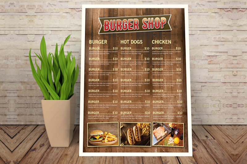 burger-menu-flyer-template