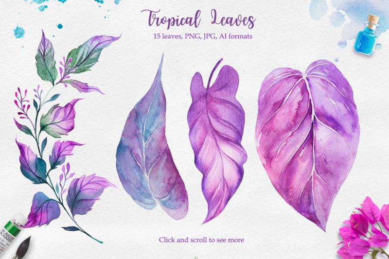 tropical-watercolor-illustrations