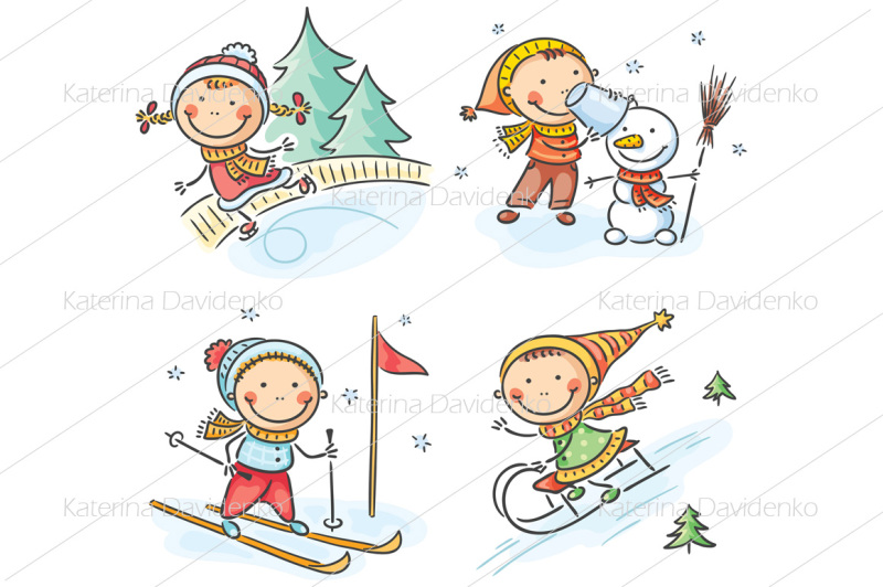 set-of-kids-seasonal-activities