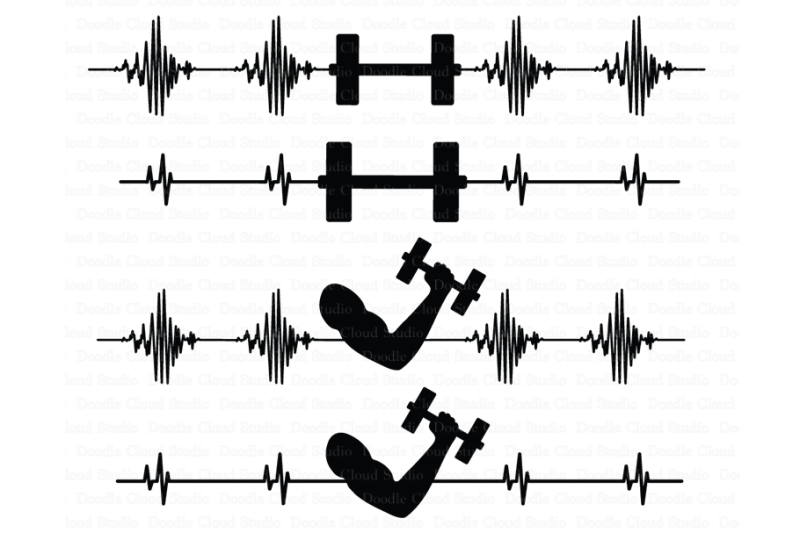 heartbeat-barbell-svg-cardiogram-muscle-svg-files