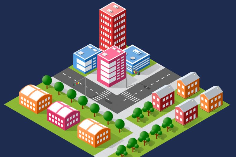 bundle-set-infrastructure-urban-skyscrapers