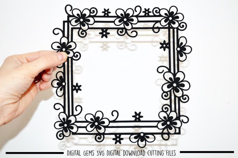 flower-frame-paper-cut-svg-dxf-eps-files