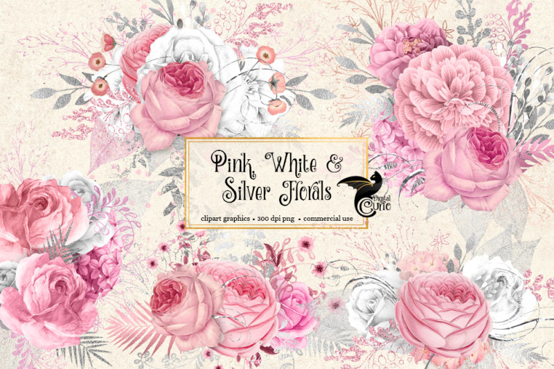 pink-white-and-silver-florals
