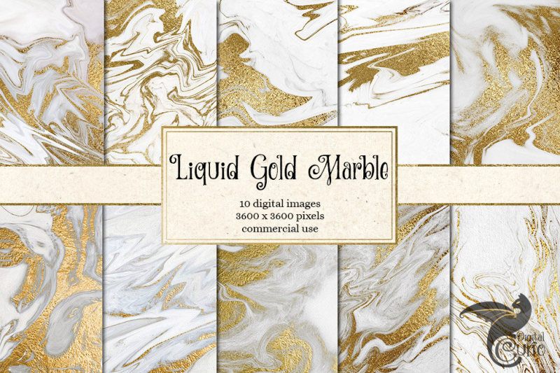 liquid-gold-and-white-marble-digital-paper