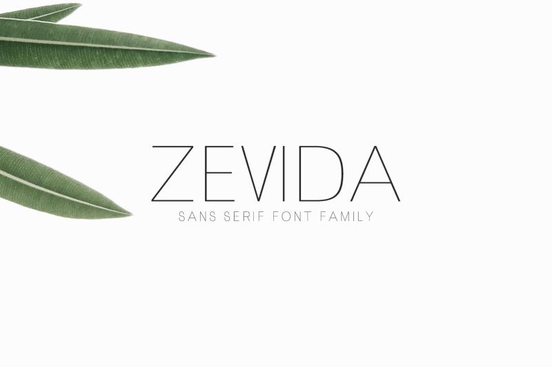 zevida-4-sans-serif-font-family