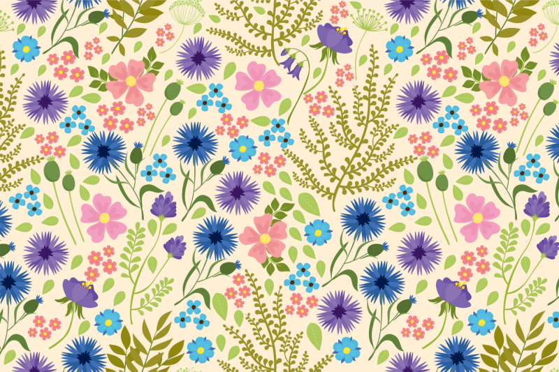 flower-set-and-patterns
