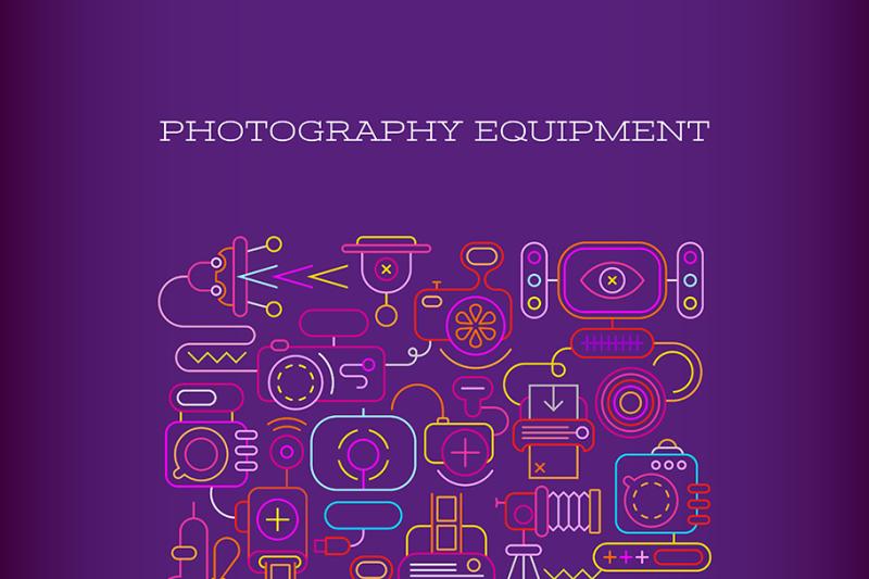 photography-equipment-vector-banner