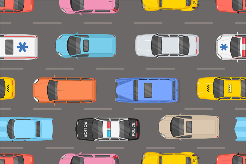 top-view-of-different-cars-pattern