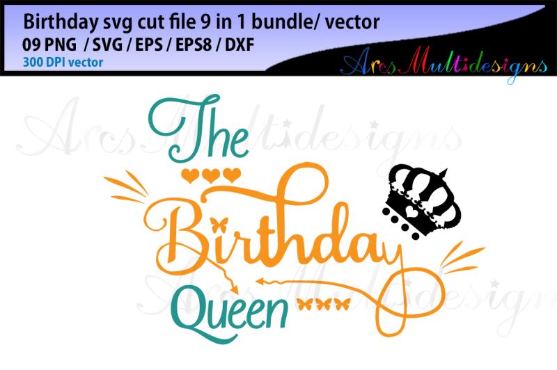 birthday-svg-cut-file-bundle-vector-the-birthday-queen-svg-cut