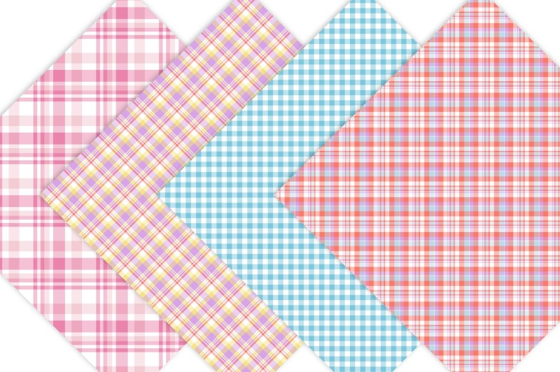 spring-plaids-digital-paper