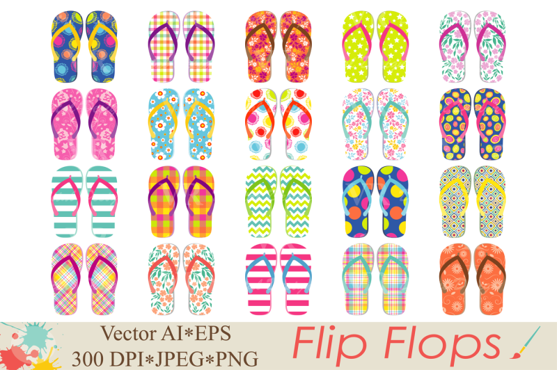 flip-flops-clipart-beach-shoes-graphics-summer-vector-illustration