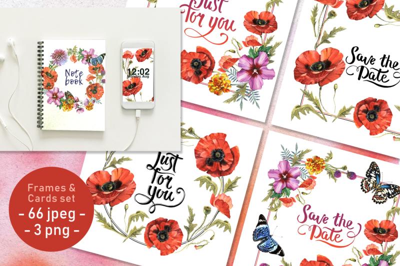 poppy-field-png-watercolor-set