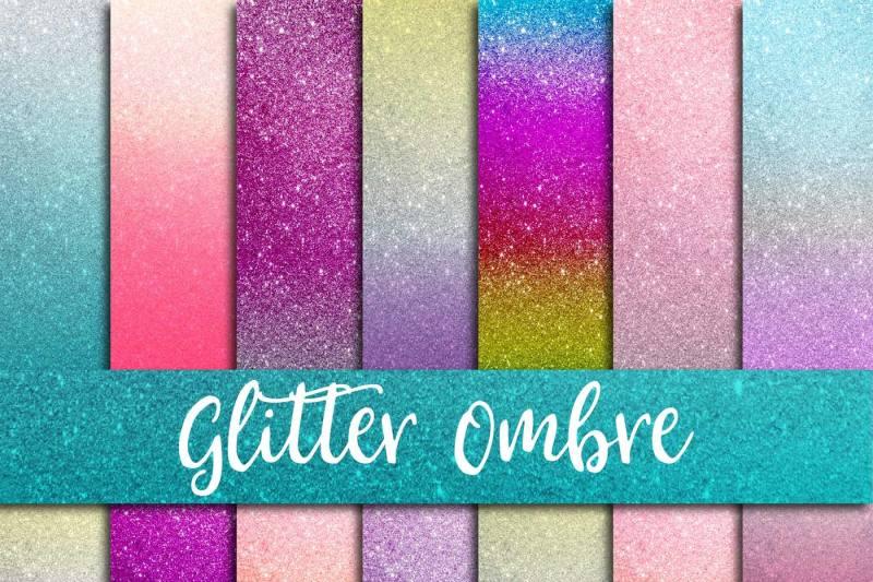 glitter-ombre-digital-paper