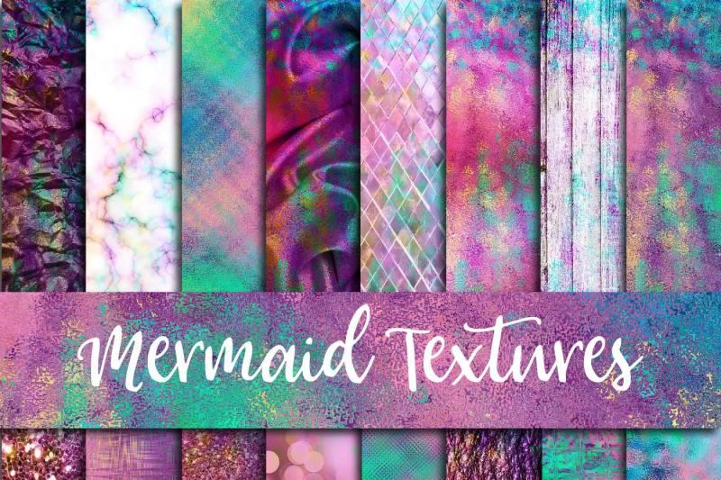 mermaid-textures-digital-paper