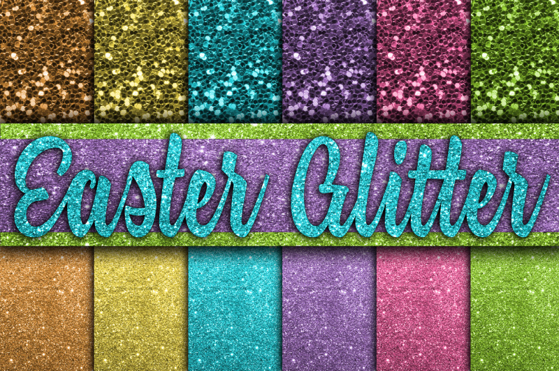 easter-glitter-digital-papers