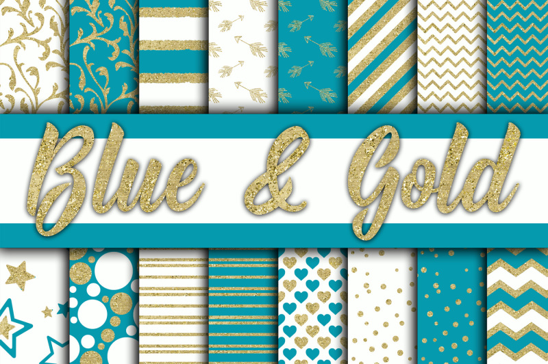 blue-and-gold-glitter-digital-paper