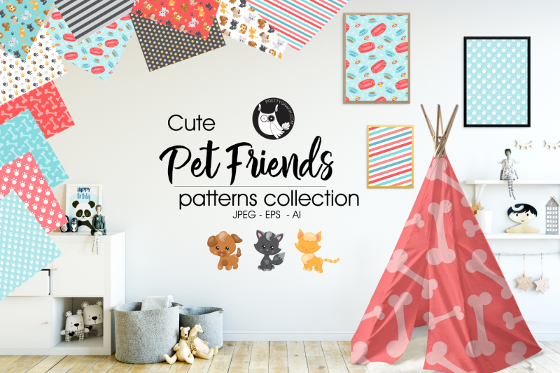 pet-friends-patterns-collection-digital-papers