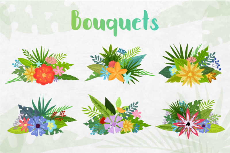 tropical-summer-clipart-collection