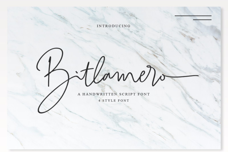 4-style-font-bitlamero-script