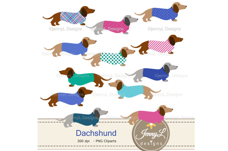 dachshund-dog-digital-papers-and-clipart