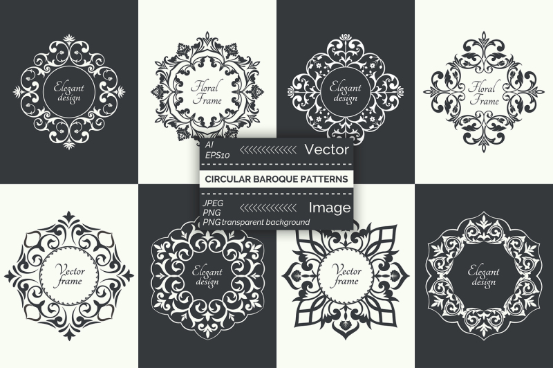vector-circular-baroque-patterns