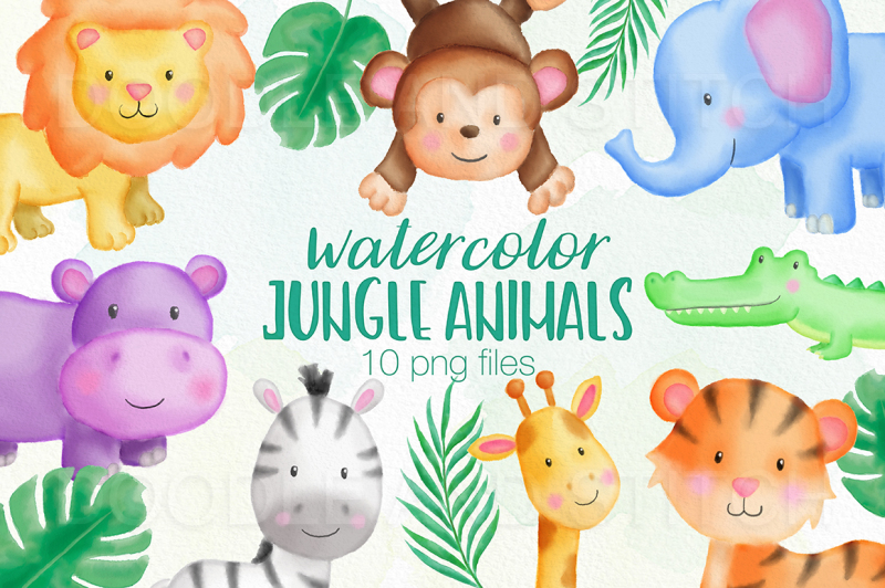 jungle-animals-watercolor-illustrations