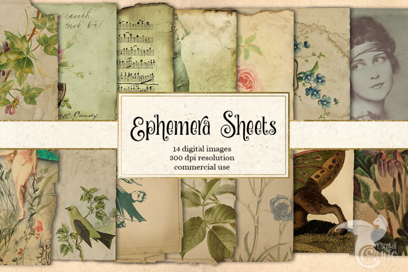 ephemera-sheets