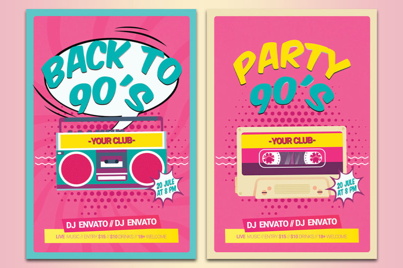 back-to-the-90s-disco-90s-poster-flyer