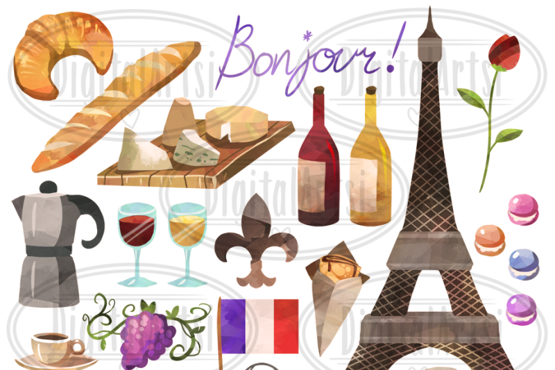 watercolor-french-culture-clipart