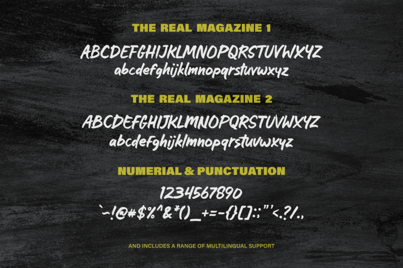 the-real-magazine-font
