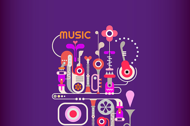 abstract-music-vector-design