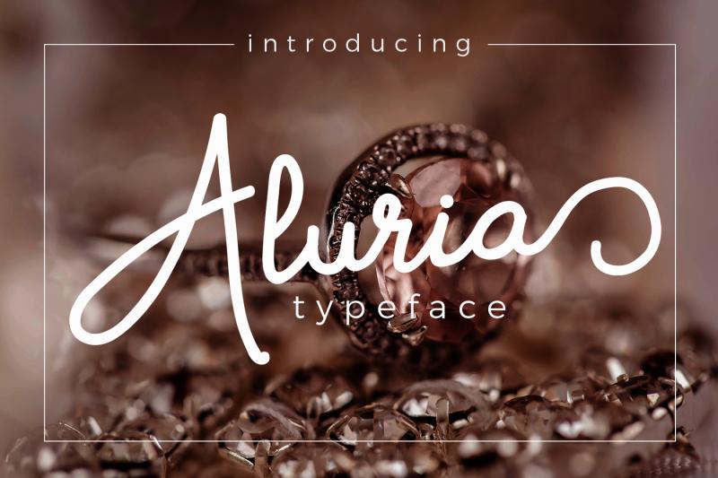 aluria-signature-font