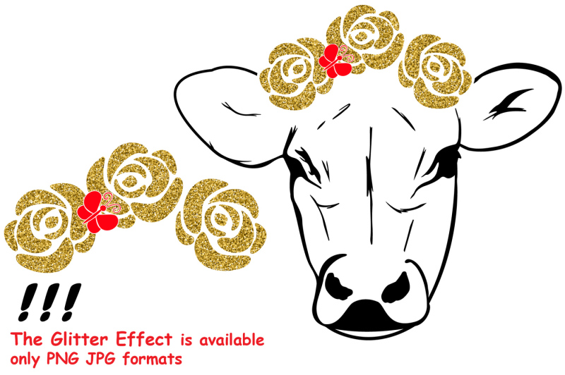 cow-with-flowers-silhouette-svg-bandanna-flower-heifer-iron-74sv