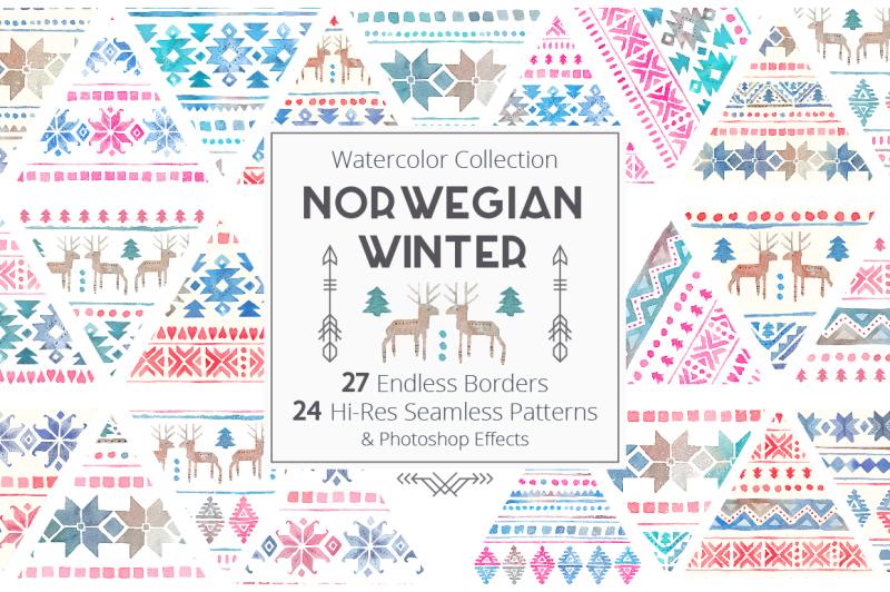 norwegian-winter-seamless-patterns