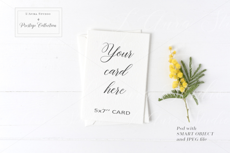 Free Floral 5x7 Card Mockup - crd229 (PSD Mockups)