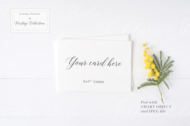 Free Floral Stationery Mockup - crd230 (PSD Mockups)