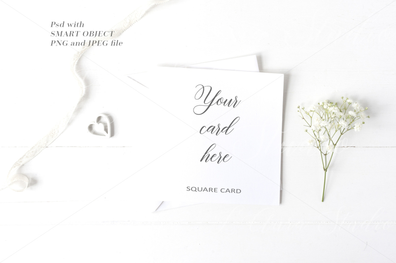 Free Wedding Square Card Mockup - crd231 (PSD Mockups)