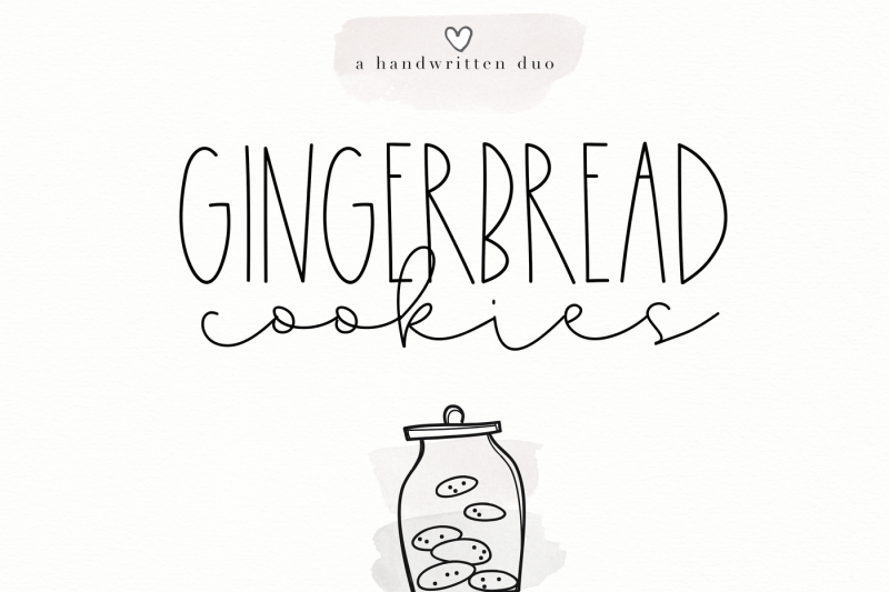 gingerbread-cookies-a-script-font-duo