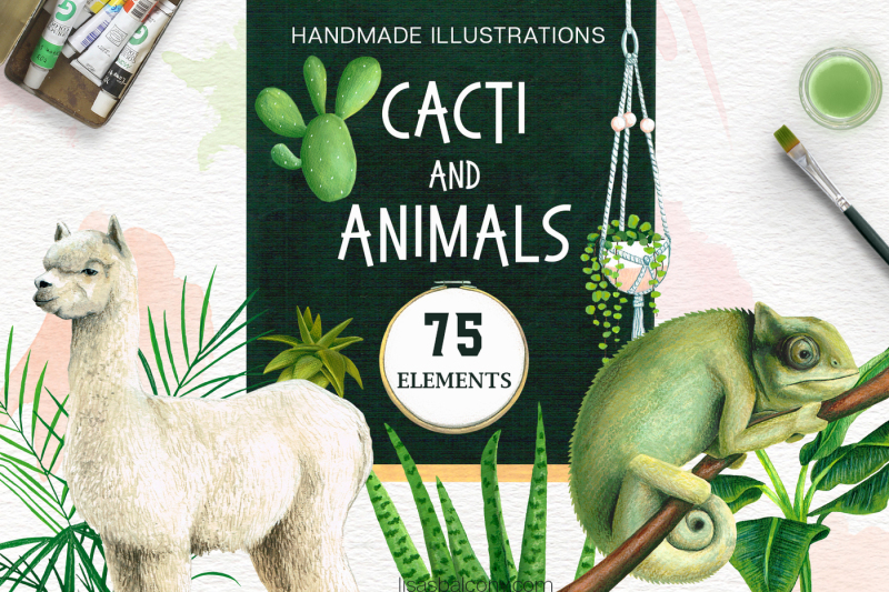 cacti-and-animals-design-kit