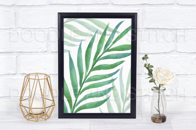 tropical-leaves-watercolor-clipart-illustrations
