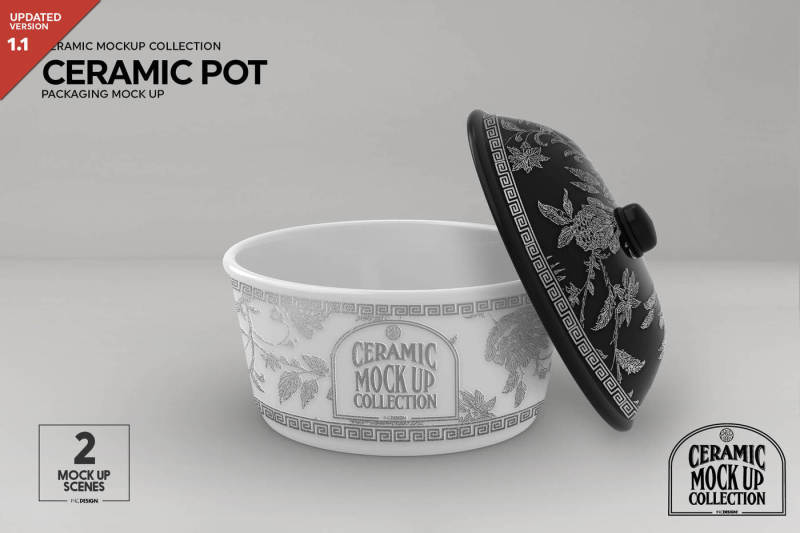 Free Ceramic Pot Packaging MockUp (PSD Mockups)