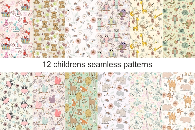childrens-seamless-patterns