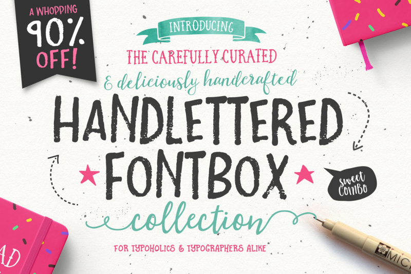 90-percent-off-the-handlettered-fontbox