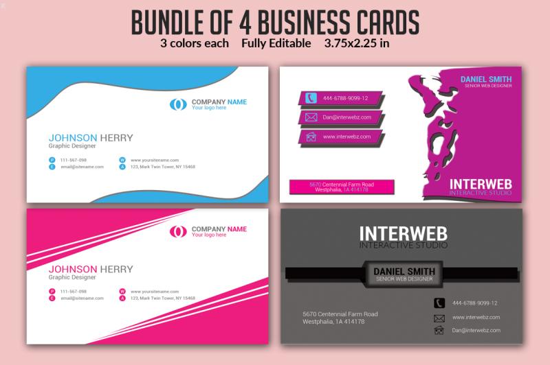 bundle-of-4-business-card-templates
