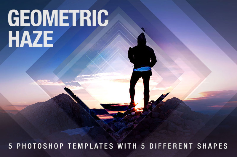 Free Geometric Haze Photoshop Template (PSD Mockups)