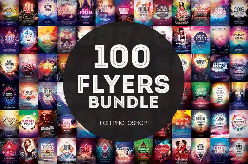 100-flyer-templates-mega-bundle