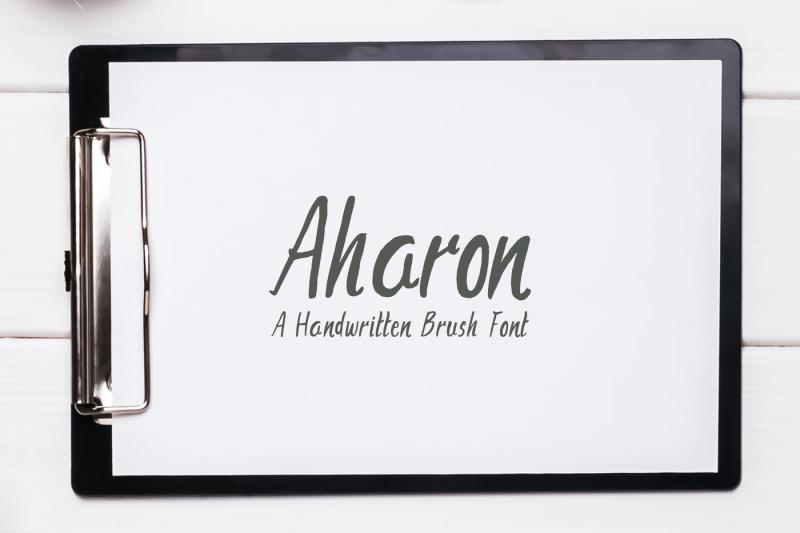 aharon-handwritten-brush-font