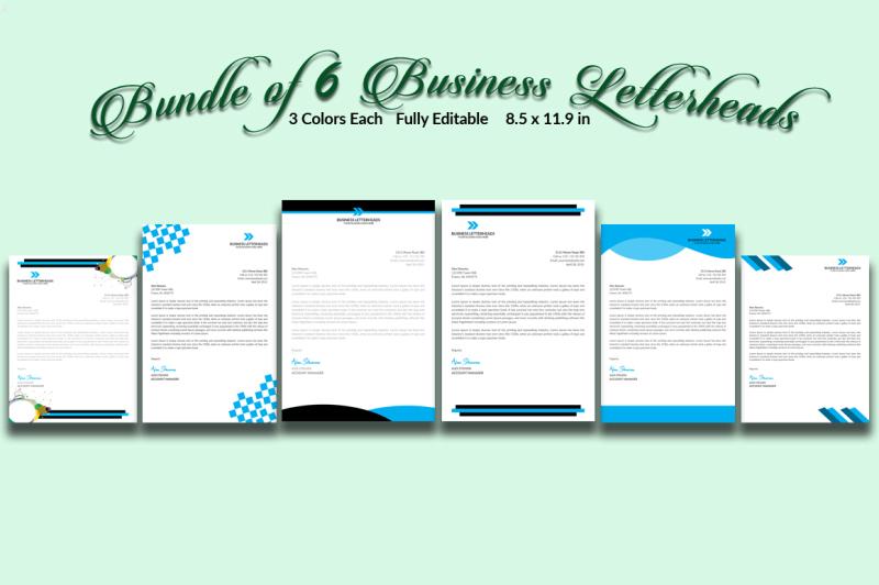 bundle-of-6-business-letterheads