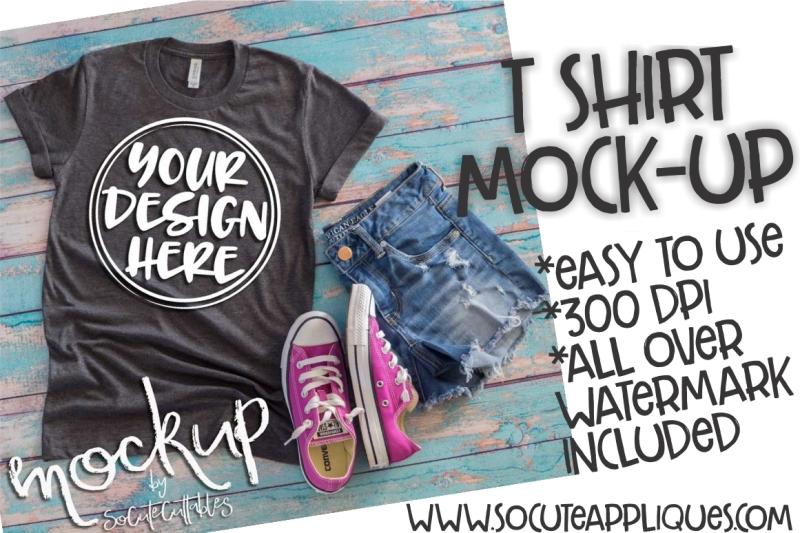 Free Gray t-shirt flat lay mock up 6500 (PSD Mockups)