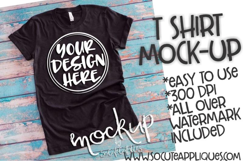 Free Black t-shirt flat lay mock up 6501 (PSD Mockups)